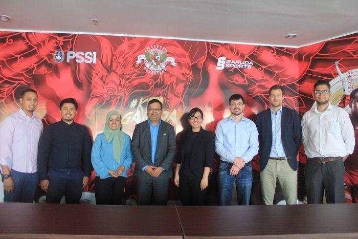 PSSI melakukan pertemuan dengan delegasi FIFA dan AFC di Kantor PSSI, Sudirman, Jakarta Selatan, Kamis (11/4/2019).