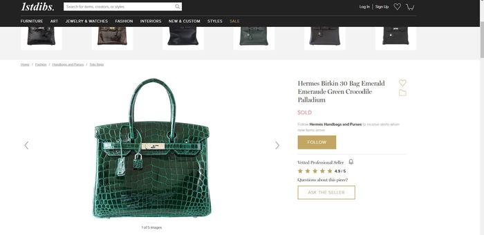 Hermes seri birkin 30 green emerald crocodile with palladium hardware