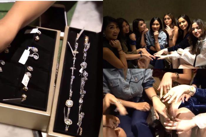 Girls Squad memilih dan berfoto dengan berlian yang mereka pilih.