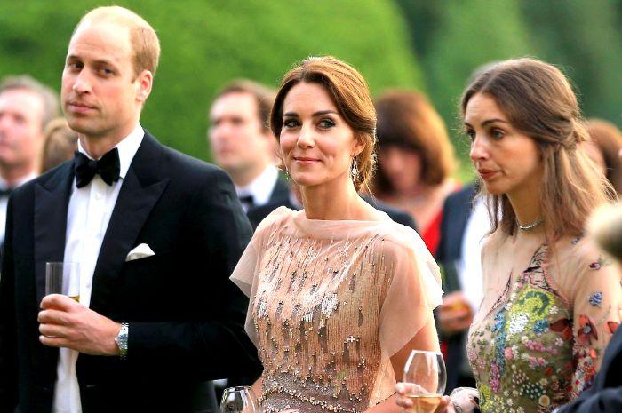Pangeran William dan Kate Middleton serta Rose Hanbury