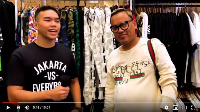 Tangkap Layar Youtube: Uya Kuya di Jakarta Sneaker Day