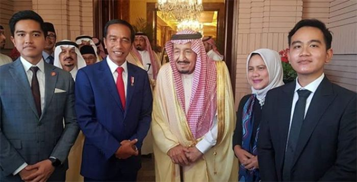 Jokowi dan keluarga bertemu <a href='https://bangka.tribunnews.com/tag/raja-salman' title='RajaSalman'>RajaSalman</a>