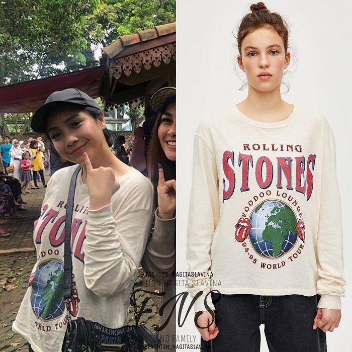 Biasa Pakai Baju Mahal, Nagita Slavina Kepergok Kenakan Kaus 300 Ribuan Saat Datangi TPS di Pemilu 2019
