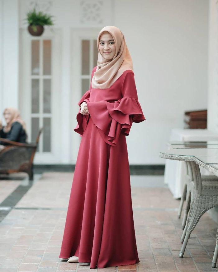 Bingung Pilih Baju Lebaran Model Gamis Untuk Lebaran 2019 Ala Alyssa Soebandono Bisa Dicontek Lho Tribun Jambi