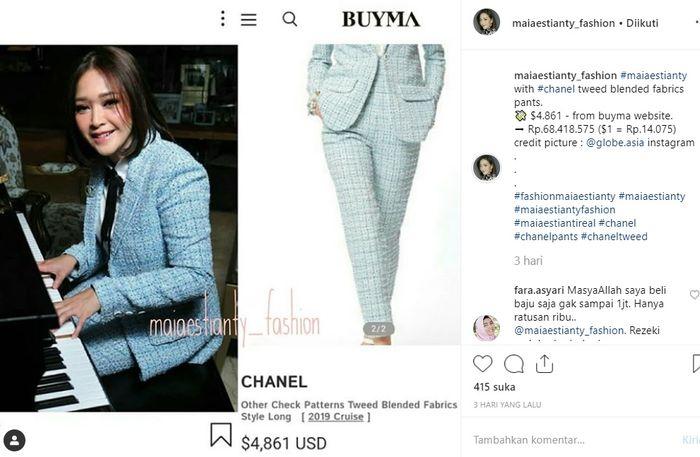 Hadir ke Acara Brand Ternama Dunia Bersama Suami, Maia Estianty Tampil Cetar Berbalut Busana Puluhan Juta! | Instagram @maiaestianty_fashion