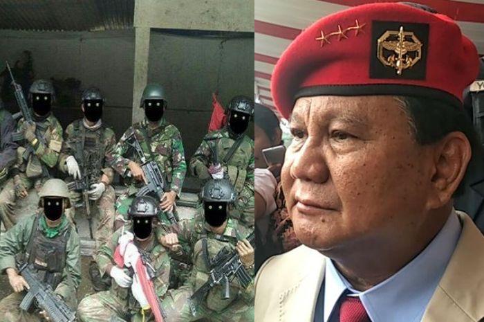 Ilustrasi satuan Elit TNI dan <a href='https://jambi.tribunnews.com/tag/prabowo-subianto' title='PrabowoSubianto'>PrabowoSubianto</a>