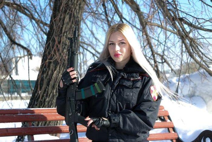 Anna Khramtsova. penjaga elit dari rusia pengawal Vladimir Putin