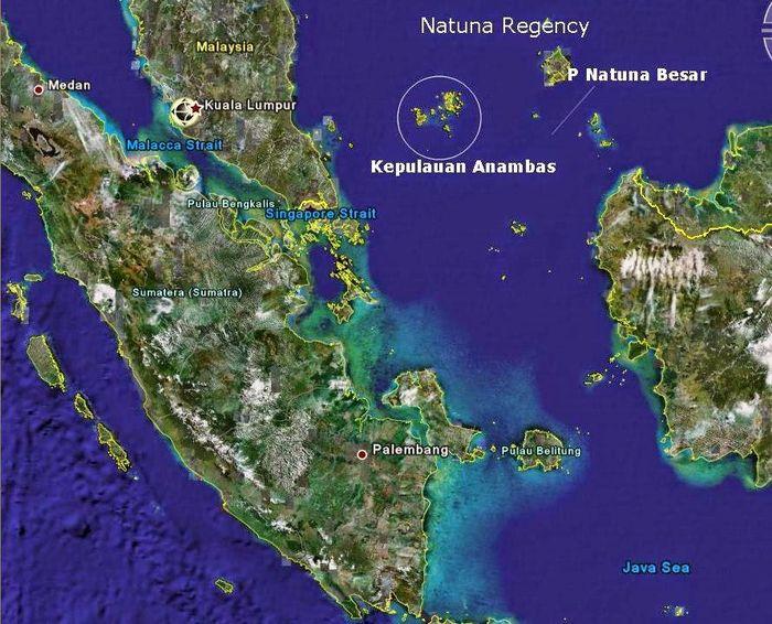 Posisi geografis Natuna
