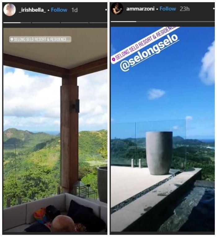 Ammar Zoni dan Iriish Bella bulan madu instagram