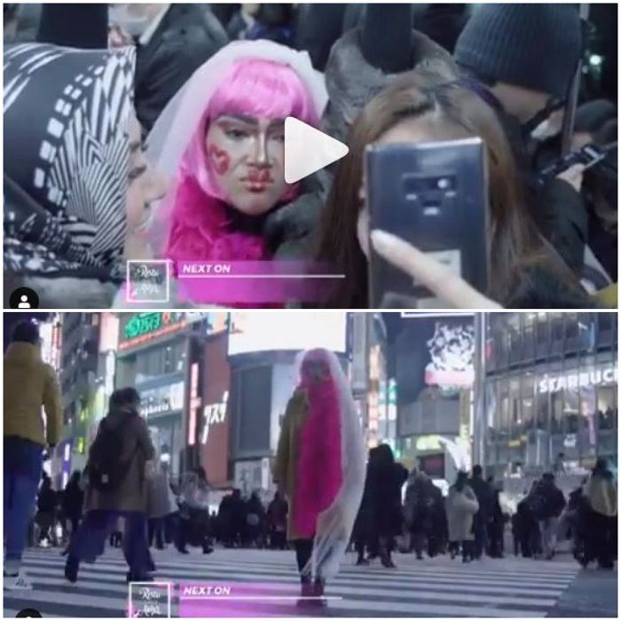 Tampilan Syahrini saat Bachelorette party di Jepang