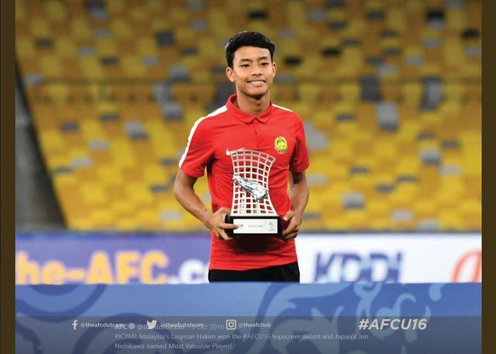 Pemain timnas U-16 Malaysia, Luqman Hakim Shamsudin.