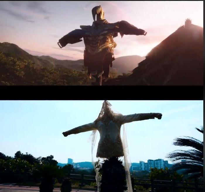 Baju pengantin dalam adegan baju Thanos.