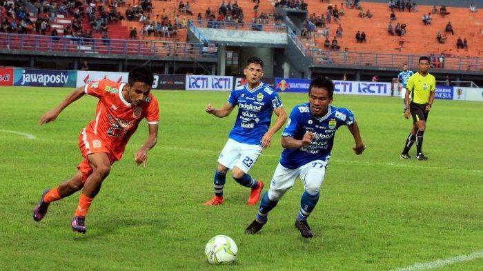 Laga Persib vs Borneo FC di perempat final leg kedua Piala Indonesia 2018 di Stadion Si Jalak Harupat, Bandung, Sabtu (4/5/2019).