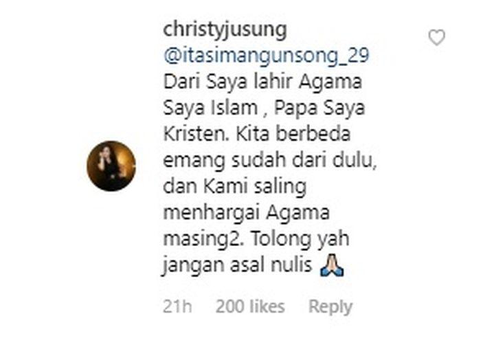Penjelasan Christy Jusung