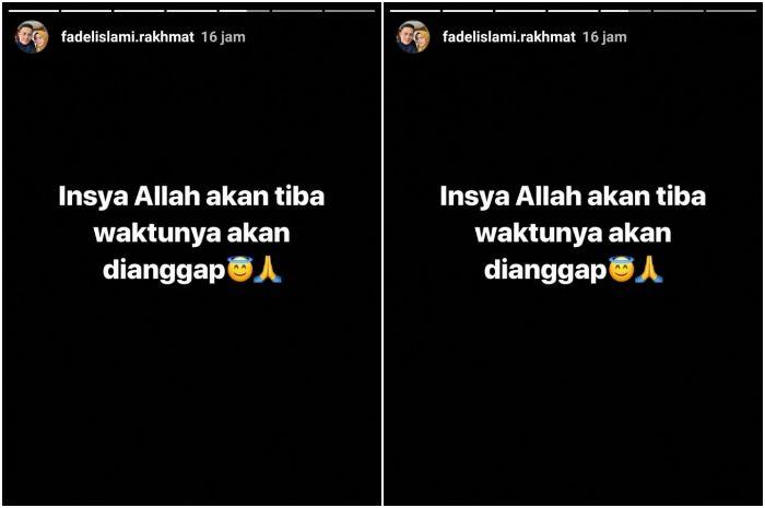 Unggahan Instagram story Fadel Islami.