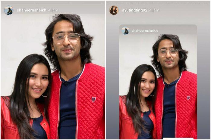 Unggahan Instagram story Ayu Ting Ting dan Shaheer Sheikh
