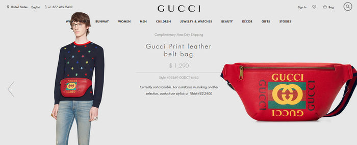 Gucci Leather Belt Bag