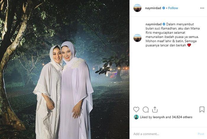 Naysila Mirdad memakai hijab