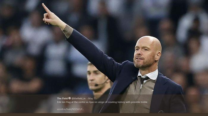 Pelatih Ajax Amsterdam, Erik ten Hag.