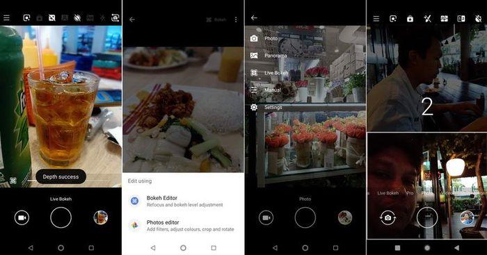Aplikasi kamera menyediakan beberapa pilihan seperti fitur bothie yang menampilkan dua frame dalam satu layar, efek bokeh, serta penyuntingan sebelum dan sesudah di foto.