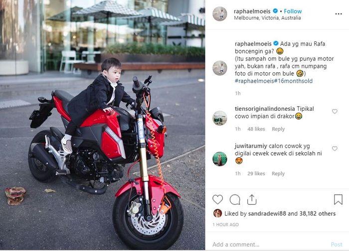 unggahan pada akun instagram @raphaelmoeis.