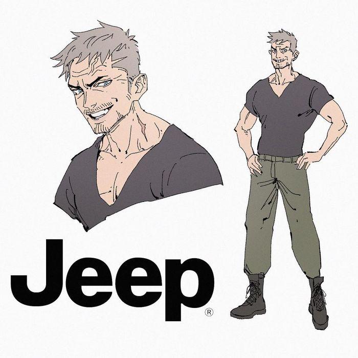 Brand jadi karakter anime