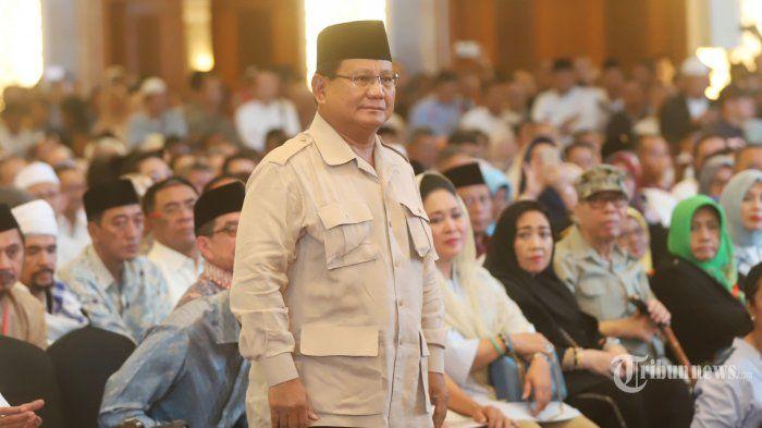 "Prabowo dalam acara ""Mengungkap Fakta-Fakta Kecurangan Pilpres 2019"" di Hotel Grand Sahid Jaya, Jakarta Pusat."