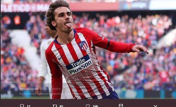 Penyerang Atletico Madrid, Antoine Griezmann.
