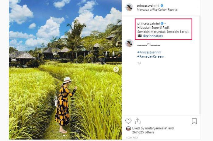 Unggahan akun Instagram Syahrin