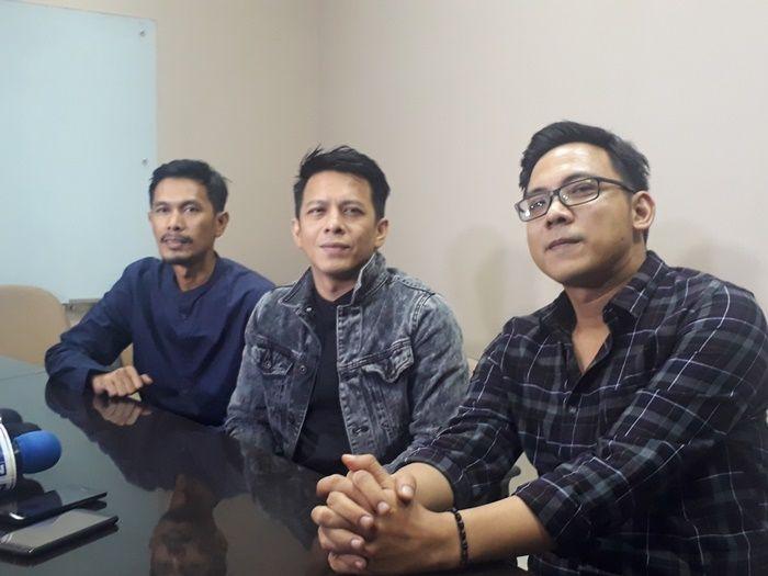 Band Noah sesaat sebelum tampil dalam acara Salam Ramadhan di Lippo Mall Kemang, Jakarta Selatan pada Jumat (17/5/2019).