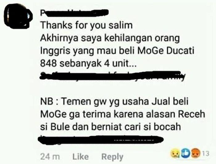 Salah satu netizen yang ikut merasakan imbas kasus MS