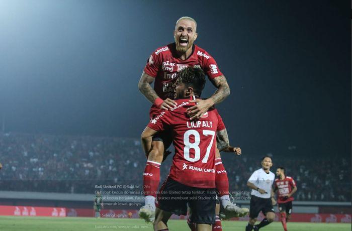 Bali United mengalahkan Persebaya dalam partai pekan perdana Liga 1 2019 di Stadion Kapten I Wayan Dipta, 16 Mei 2019.