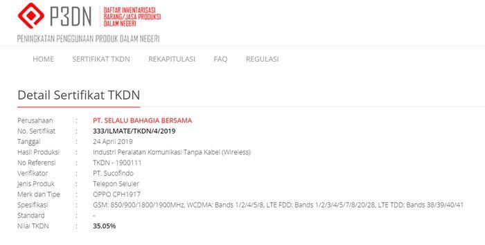 Segera Dijual di Indonesia, Oppo Reno Lolos TKDN