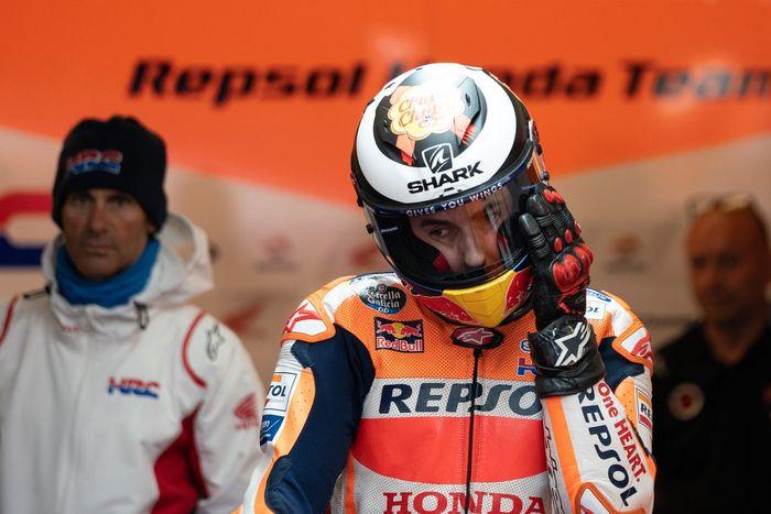 Jorge Lorenzo saat menjalani seri balapan MotoGP Prancis 2019.