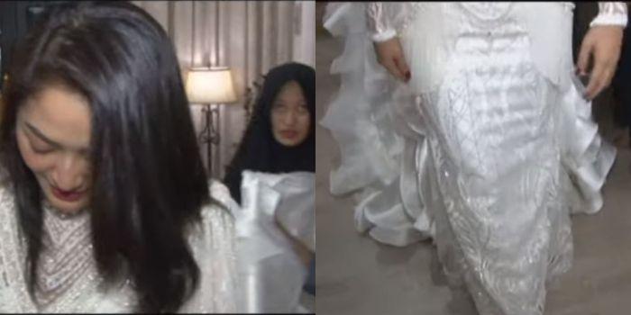 Gaun yang akan digunakan Sibad di acara pesta pernikahannya.
