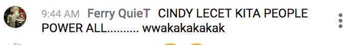 Komentar warganet tentang sosok Cindy Permadi.