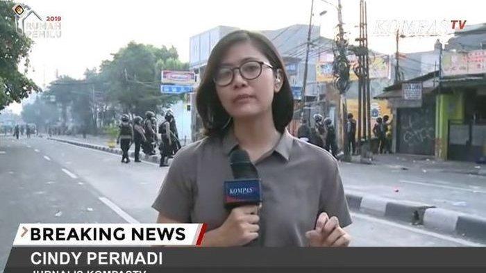 Cindy Permadi reporter Kompas TV yang curi perhatian warganet