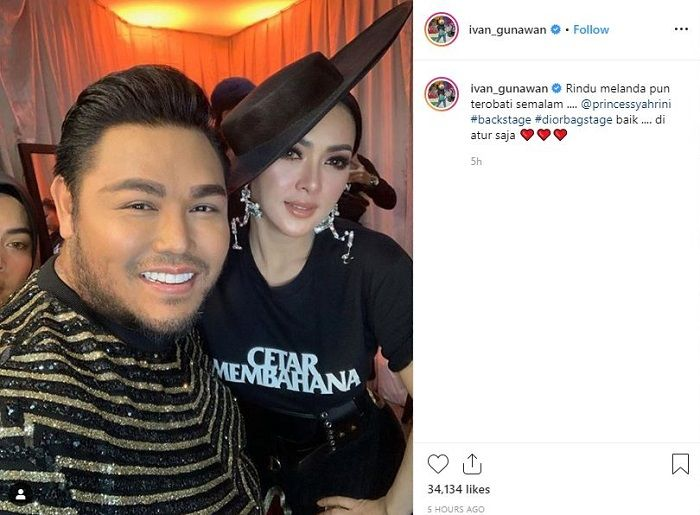 Ivan Gunawan menutup kolom komentar di Instagramnya saat pamer foto bareng <a href='https://style.tribunnews.com/tag/syahrini' title='Syahrini'>Syahrini</a>