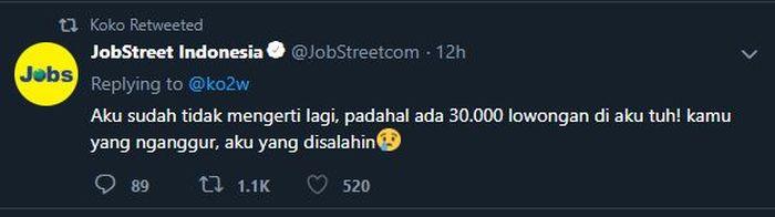 Demonstran 22 Mei mayoritas pengangguran, cuitan Jobstreet Indonesia pun mendramatisir sebagai responnya.