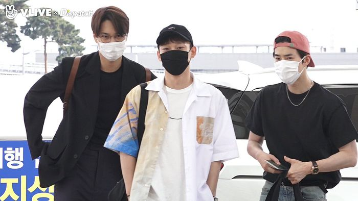 Kai, Chen, dan Suho EXO