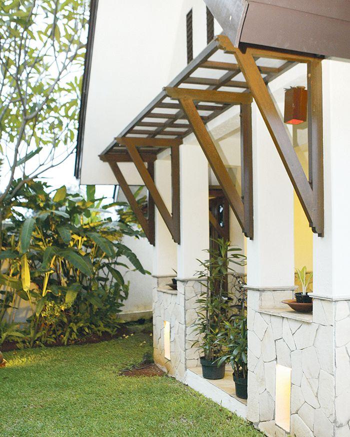 Ventilasi Rumah Minimalis 2 Lantai  kanopi dan tritisan ternyata penting untuk lindungi rumah