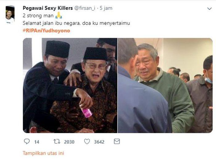 Warganet sandingkan foto SBY dengan BJ Habibie