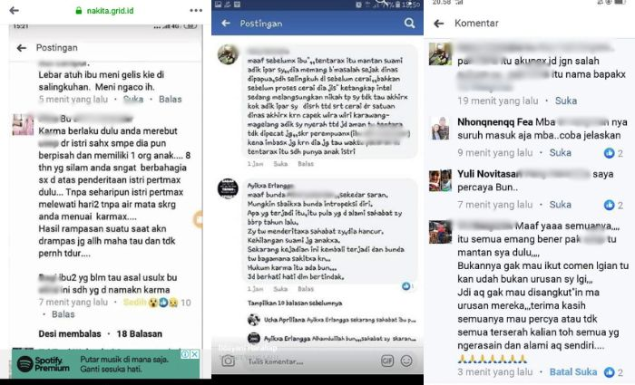 Istri sah anggota TNI yang diselingkuhi karyawan dealer motor diduga sempat jadi pelakor.