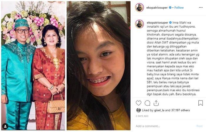 Eko Patrio ungkap asal usul nama anaknya, ternyata ada hubungannya dengan Ani Yudhoyono