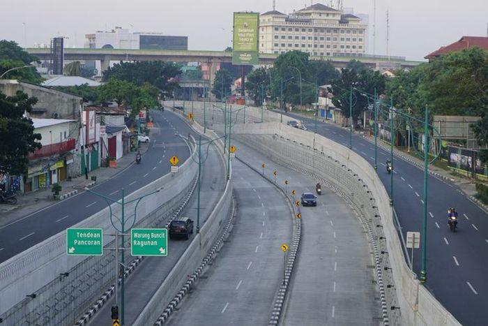 Jalanan Jakarta saat Idul Fitri