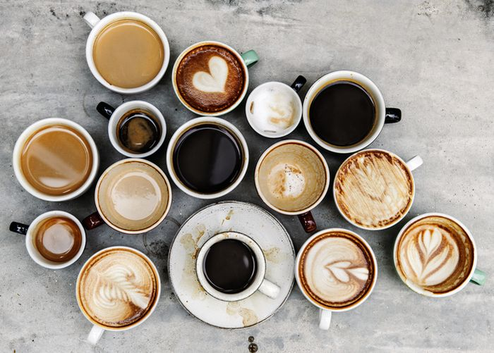 Berbagai macam kopi.
