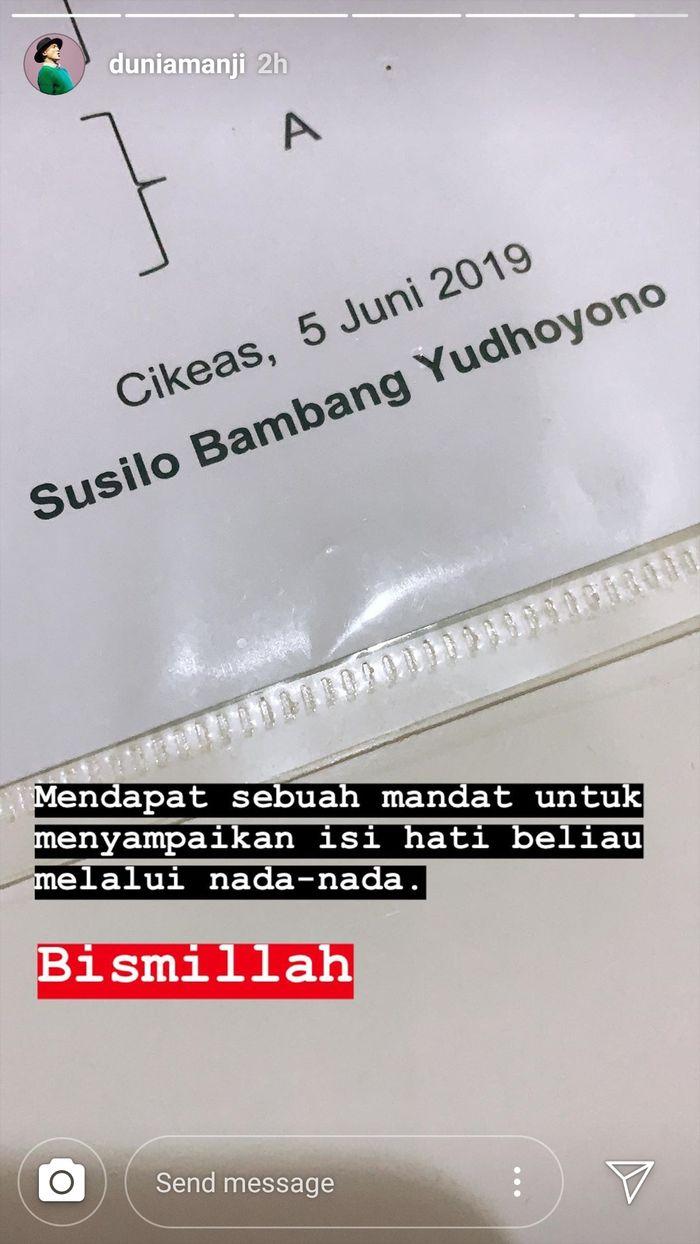 Anji Manji dapat mandat menulis lagu dari SBY