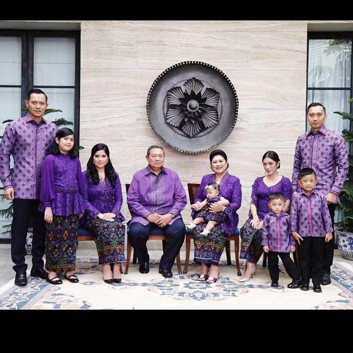 Foto Lebaran keluarga Yudhoyono di tahun 2018 tatkala Ani