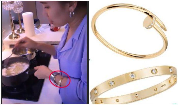 Ayu Ting Ting kepergok kenakan perhiasan dengan harga selangit saat masak Indomie di dapur.