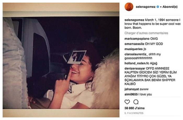 Foto Justin Bieber yang dihapus Selena Gomez.